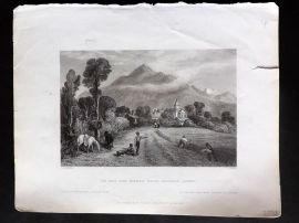 Bartlett Switzerland C1838 Print. Viu and the Monte Mole, Faucigny, Savoy